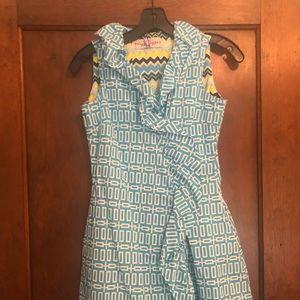 Dizzy Lizzie Ruffles Turquoise Dress size XS